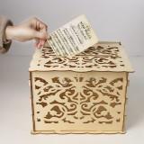 DIY Rustic Wooden Wedding Card Box Wedding Advice Box with Lock Wedding Party Favor