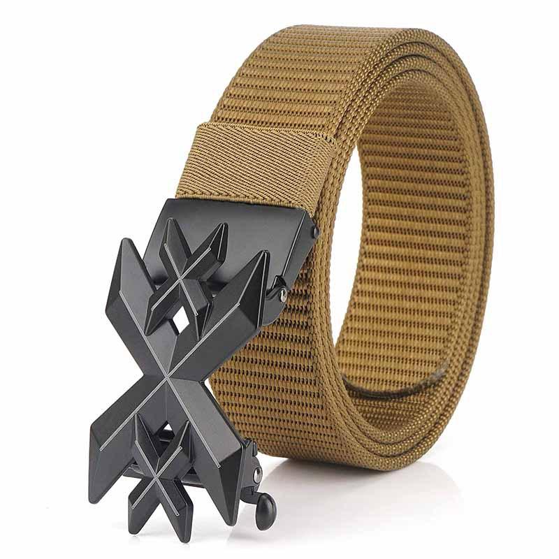 ENNIU 125cm Men Fashion Nylon No Holes Waist Belts Tactical Belt Quick Unlock With Metal Buckle Long Belt