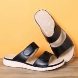 Women Open Toe Hook Loop Soft Sole Summer Beach Casual Flat Sandals