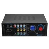 SUANBUN 600W+600W 2CH HIFI bluetooth Digital Mixed IC Home Car Audio Stereo Amplifier Support 4 MIC Input