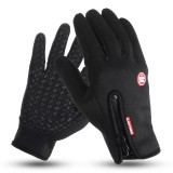 Men Women Full Finger Skiing Gloves Touch Screen Winter Warm Fleece Motorcycle Cycling Sports Windproof Waterproof Thermal