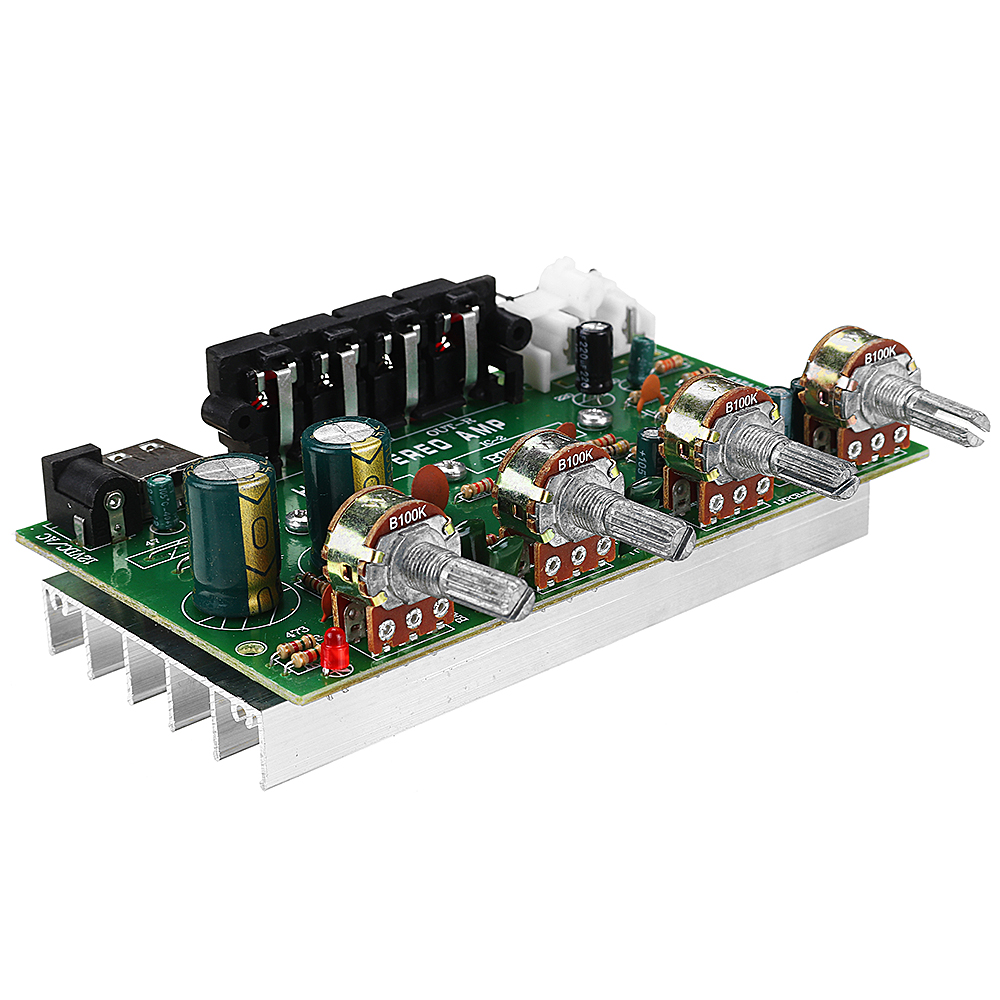 DX0409 Stereo Power Amplifier Board 2.0 Channel Balanced Sound Adjustment Small Power Amplifier Audio Modification For Car Amplifier