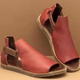 Women Plus Size Roman Hook Loop Open Toe Casual Summer Flat Sandals