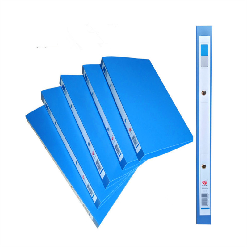 1 Piece A4 Blue File Folder 2 Holes O-shape Ring Binder Document Folder Desktop File Organizer Office School Supplies