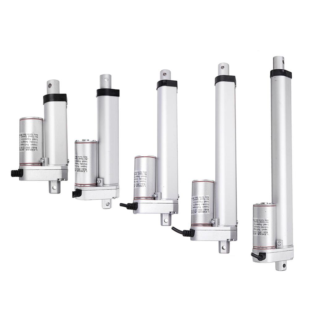 DC 12V 1500N 50/100/150/200/250mm Stroke Tubular Motor Electric Linear Actuator Adjustable Actuator Tor Opener Linear Actuator Motor