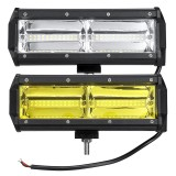 144W 48 LED Work Light Bar Fog Driving Lamp White/ Amber Offroad SUV ATV UTV