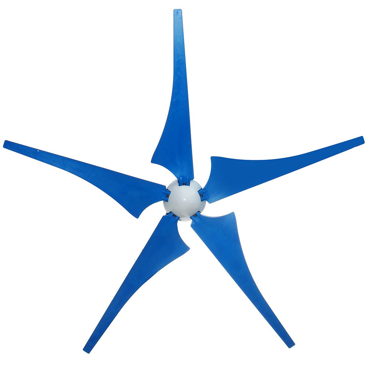 500W/1000W Wind Turbine Generator DC 12V 5 Blades Wind Turbine Generator Kit With Charge Controller