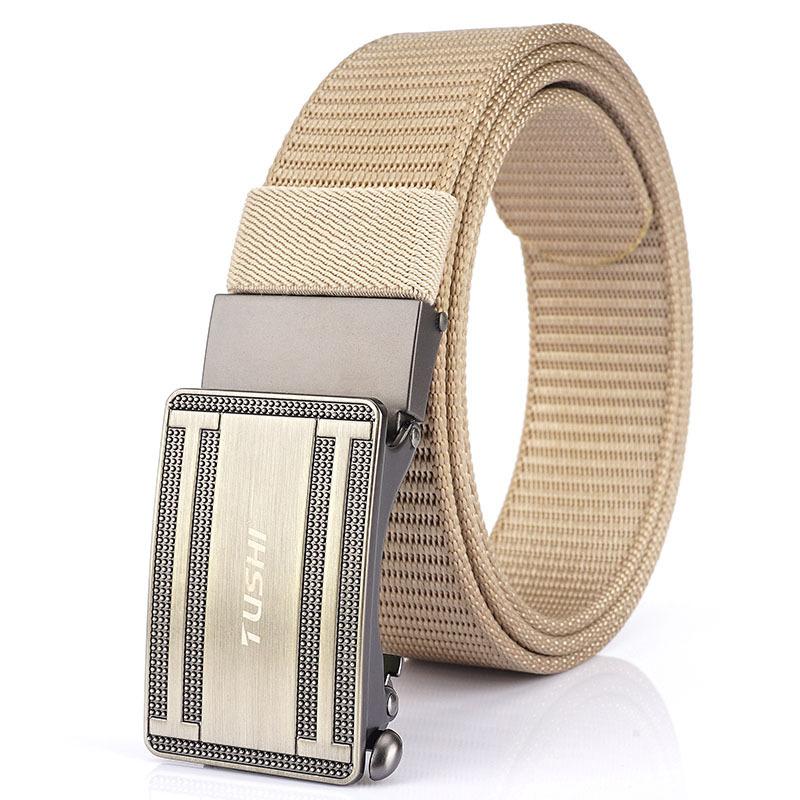 TUSHI 125cm Nonporous Military Tactical Belt Metal Buckle Business Waist Belt Waistband