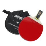 1 Pcs Table Tennis Racket Wood Rubber Professional Ball Paddle With Storage Bag