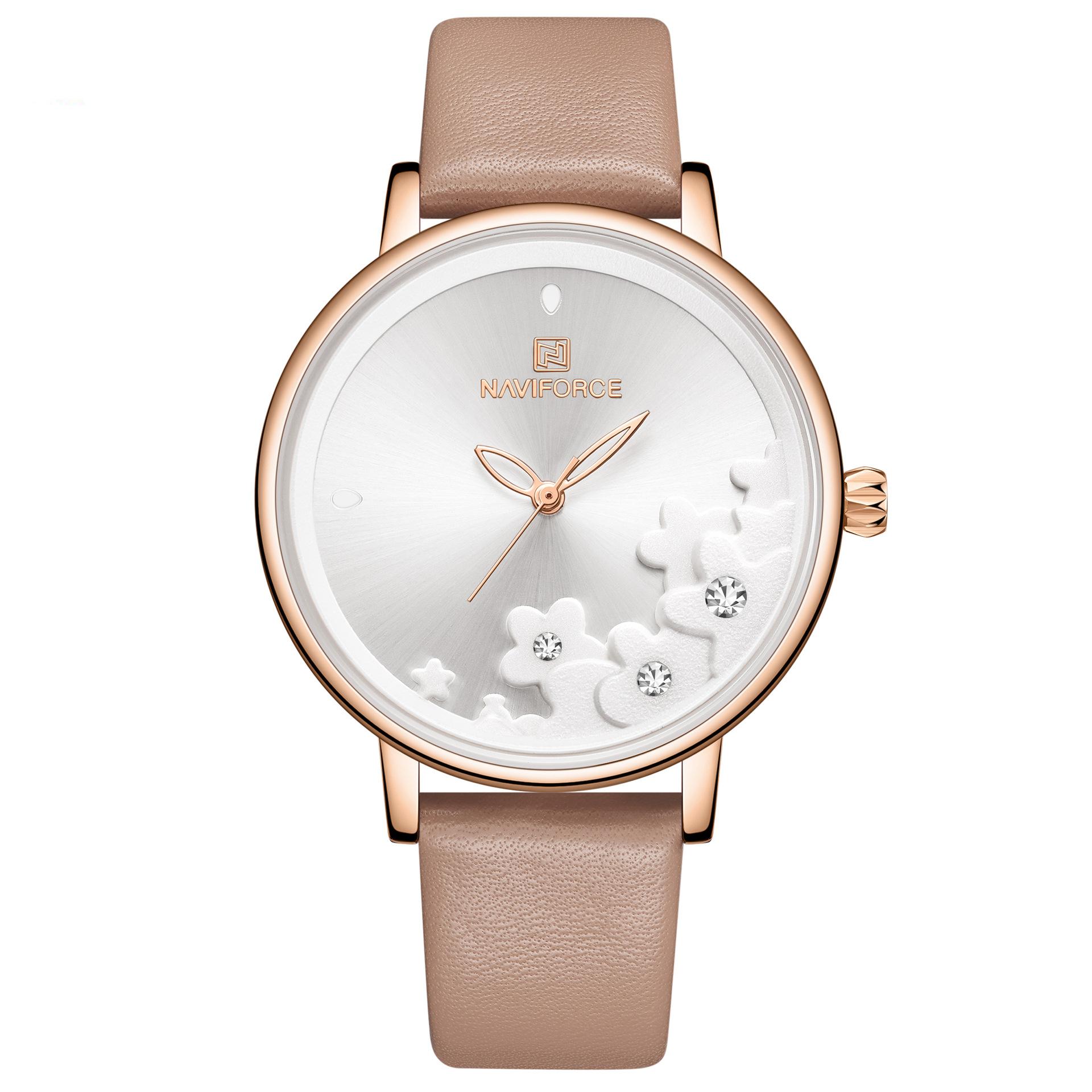 Naviforce Nf5012 Elegant Design Ladies Wrist Watch Waterproof Leather Band Quartz Watch Alexnld Com