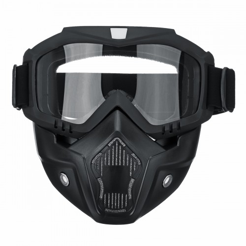 Protective Motorcycle Motocross Face Mask Goggles Anti Dust Wind Cycling Riding Glasses