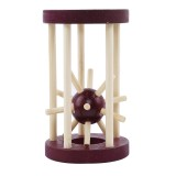 Wooden Intelligence Kong Ming Lock Take Out Spiked Ball Brain Teaser for Kids Adults Puzzle Toys Office Desktop Decorations