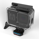 SheIngKa FLW319 60M Waterproof Protective Case Shell Cage with Soft Rubber Buttons for GoPro Hero 8 Black Action Sports Camera