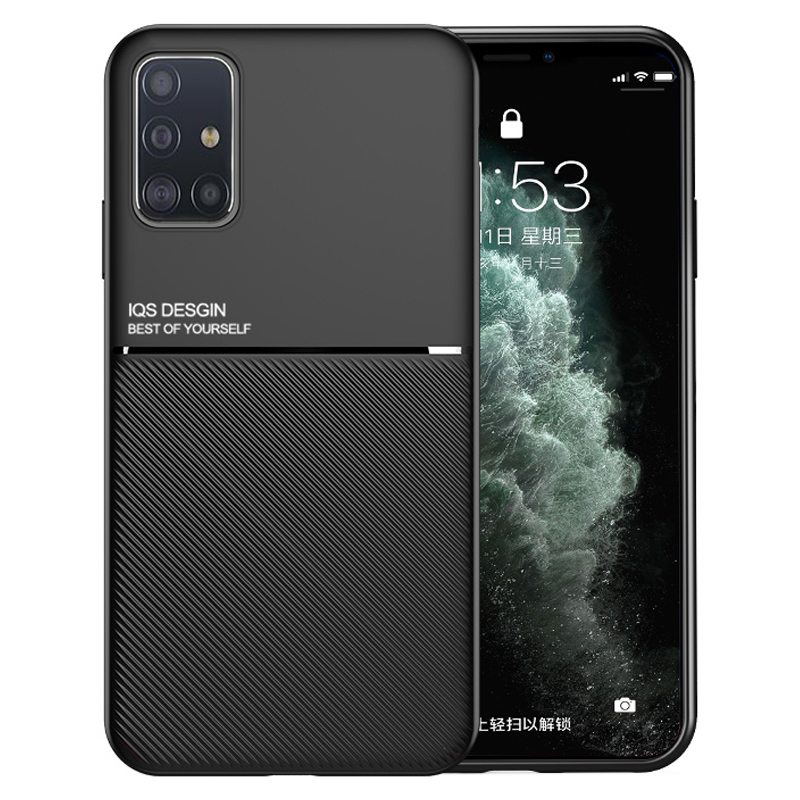 Bakeey Magnetic Non-slip Leather Texture TPU Shockproof Protective Case for Samsung Galaxy A51 2019