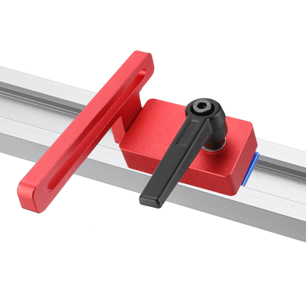 Essencedelight 30 Type Chute Woodworking Limiting Stopper Alloy Slide T-Slot Track Stop Limiter Tool