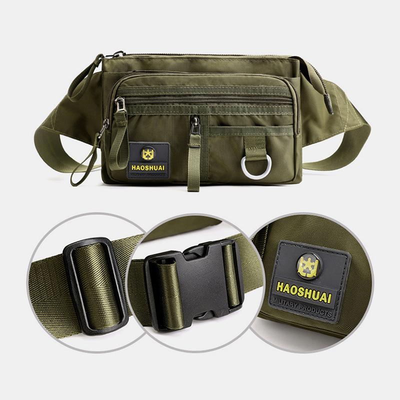 Men Fashion Multi-Layer Anti-theft Pockets Personal Cash Register Chest Bag Waist Bag Shoulder Bag