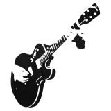 Removable Guitar Guitarist Music DIY Rock Style Decal Home Decor Art Wall Sticker Wallpaper