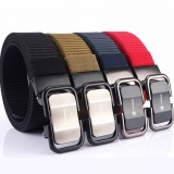 TUSHI 125cm 3.4cm Width Men Nylon Waist Belts Tactical Belt Quick Unlock Inserting Metal Buckle