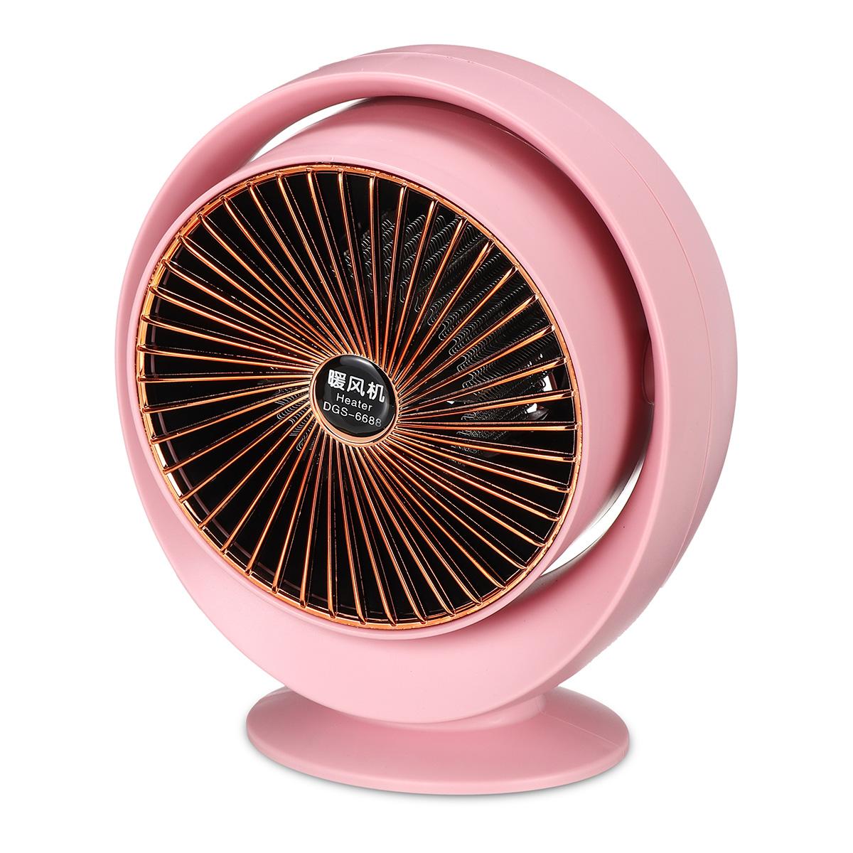 800W Mini Electric Air Heater Portable Space PTC Ceramic Heating Fan Home Office Winter Warmer
