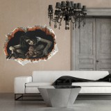 60x45CM 4 Types 3D Scary Halloween Wall Sticker Decals Party Decoration Wall Art Decals