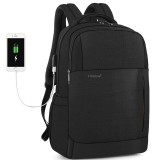 Tigernu 15.6 inch Laptop Backpack Anti-Theft Zipper with USB Charging Unisex Waterproof Laptop Bag
