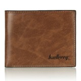 Baellerry Vintage Men's Faux Leather Thin Wallet Credit ID Card Holder Slim Coin Purse Pocket