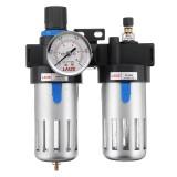 LAIZE BFC2000 2 In 1 Compressor Air Filter Air Pressure Regulator Water-oil Separator Trap Filter for Air Tools System