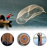 ZANLURE 8/10FT Fishing Net Hand Cast Tire Line Spin Easy Throw Network Bait Net With Sinker