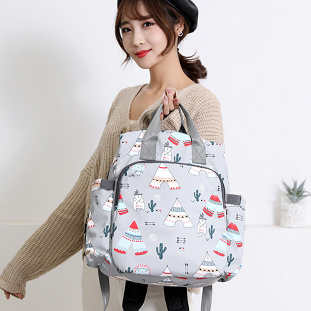 Women Travel Luggage Bag Waterproof Baby Diaper Bag Mummy Bag Nappy Storage Bag Handbag