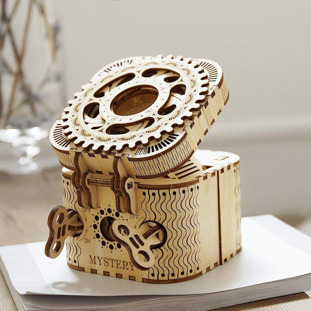 Creative DIY 3D Password Box Wooden Puzzle Game Assembly Toy Gift Jigsaw Puzzle Toy for Children