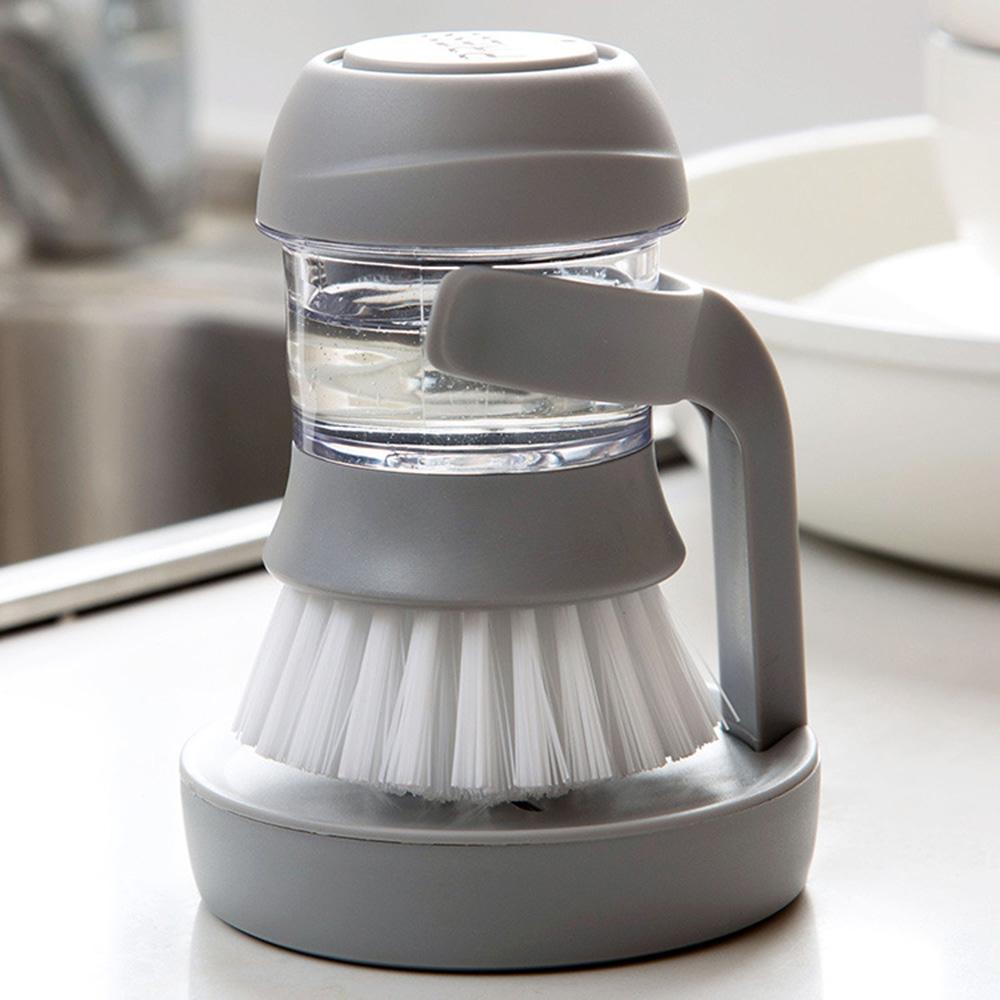 Household Kitchen Washing Utensils Pot Dish Brush with Liquid Washing Soap Dispenser Pot Brush Dish Brushes Cleaning Tool