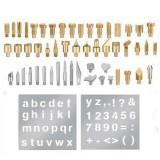 53PCS Durable Stencil Carving Art Pen Brass Tips Soldering Iron Tool Set Pyrography Kit Wood Burning Marking