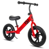 12in Adjustable Height Non-pedal Balance Bicycle Carbon Steel Wheel 2-6 Years Old Kids Bike Children's Scooter