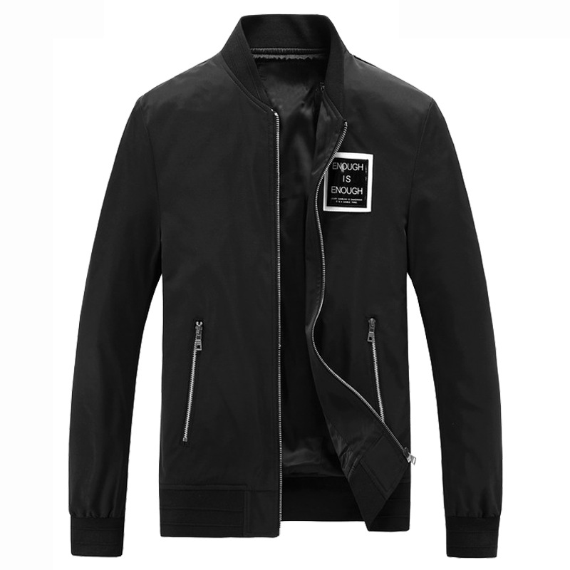 Mens Fashion Solid Color Turn Down Collar Pocket Thick Casual Jacket