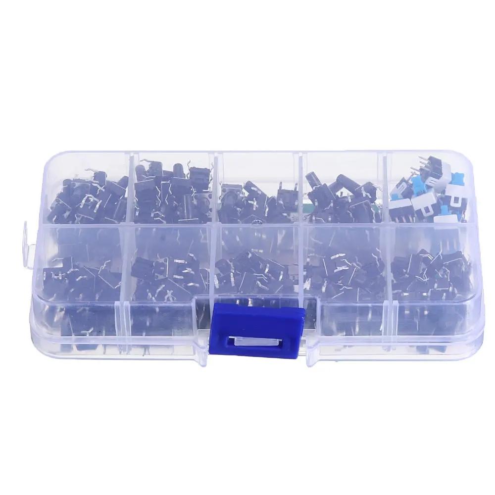 900Pcs 10 Values Tactile Push Button Switch Mini Momentary Tact Assortment Kit DIY
