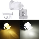 Touch Dimmer Switch 12V Dimming Acrylic LED Swivel Reading Spot Lights Wall Lamp Adjustable For RV Boat Caravan Camper Motorhome