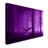 4 Size Angel In The Woods Purple Canvas Paintings Wall Art Print Pictures Decorations Unframed