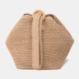 Women Travel Summer Beach Large Capacity Straw Handbag Shoulder Bag