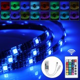 1M 2M 3M USB Waterproof IP65 RGB 5050 WIFI LED Strip Light Kit With 24 Key Remote Control DC5V