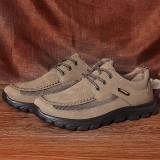 Men Genuine Leather Slip Resistant Soft Rubber Sole Walking Loafers