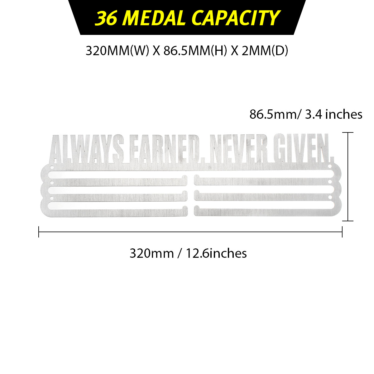36/60 Medal Hanger For Running Sport Medal Display Rack Decorations Rack Hanging Holder