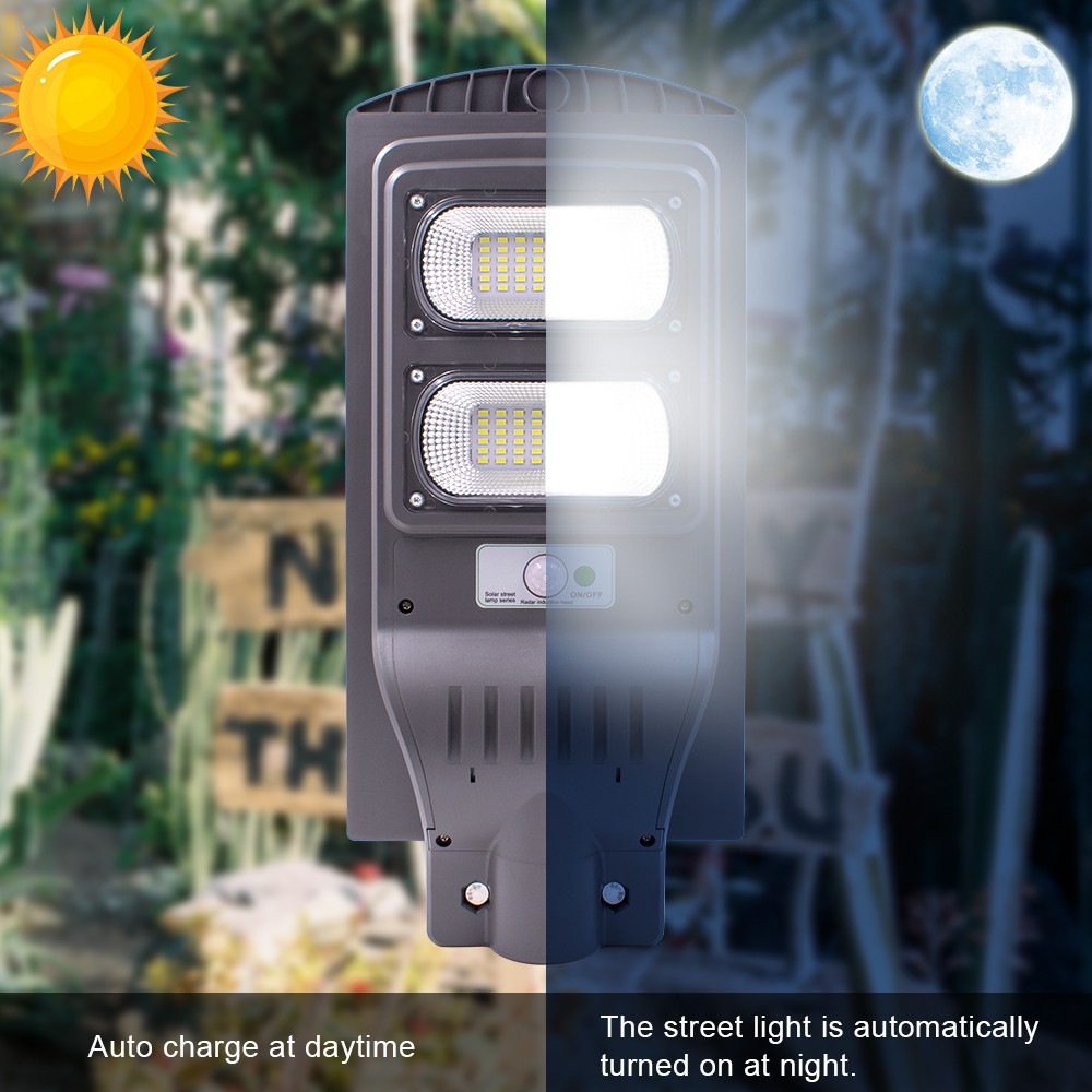 40W Solar Street Light Radar+Light Sensor LED Outdoor Garden Wall Lamp for Park, Garden, Courtyard, Street, Walkway (No Pole)