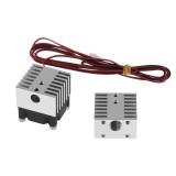 TWO TREES Aluminium Alloy Dual Head Heatsink V6 Sliver Cooling Block for 3D Printer