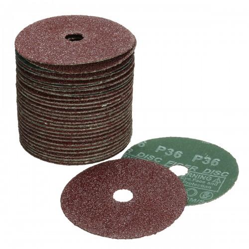 50x 4'' 100mm Fibre Sanding Grinding Disc Sandpaper 24-120Grit For Angle Grinder