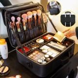 2/3 Tiers Makeup Bag Travel Cosmetic Case Desktop Beauty Brush Organizer Box Large Capacity Cosmetic Storage Bag