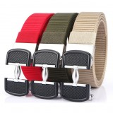 ENNIU 125CM Thickened Leisure Canvas Breathable Waist Belt Metal Press Buckle Belt Men's Elastic Tactical Belt