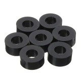 Suleve 200Pcs Flat Nylon Washer Black Round Spacer Washer Standoff Fastener Hardware 7*3*L