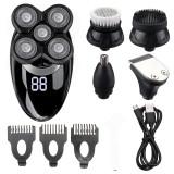 Black Gray Shaver Digital Display Five Blade Electric Shaver Rechargeable Shaver & Razor