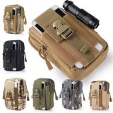 Outdoor 6 inch Camouflage Mobile Phone Money Coin Hiking Sport Tactical Men Belt Waist Bag Sidebag Pack