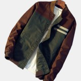 Mens Fashion Thick Cotton Turn Down Collar Casual Jacket